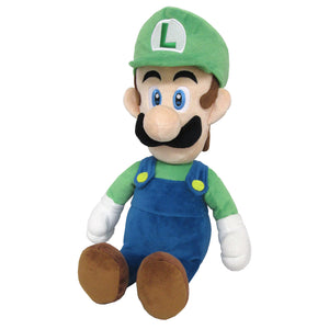 Little Buddy Super Mario All Star Collection Luigi (Medium) Plush, 15""