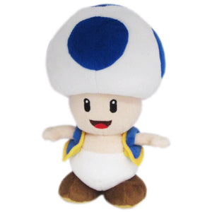 Little Buddy Super Mario All Star Collection Blue Toad Plush, 8""