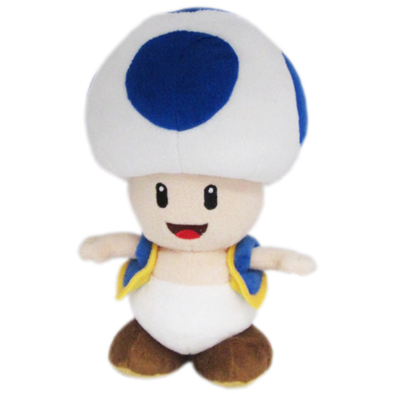 Little Buddy Super Mario All Star Collection Blue Toad Plush, 8