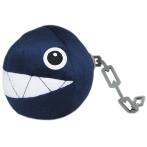 Little Buddy Super Mario All Star Collection Chain Chomp Plush, 5""