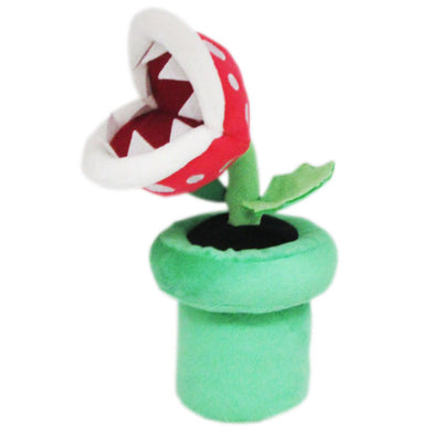 Little Buddy Super Mario All Star Collection Piranha Plant Plush, 9