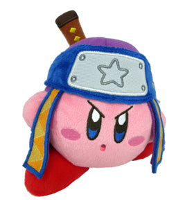 Little Buddy Kirby's Adventure All Star Collection Ninja Kirby Plush, 5""