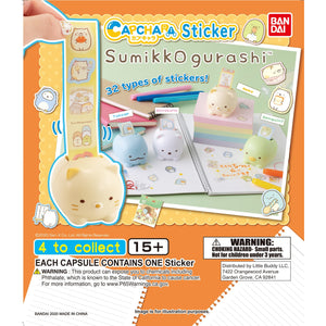 Sumikko Gurashi Cap-Chara Sticker Gashapon (Bag of 50 Capsules)