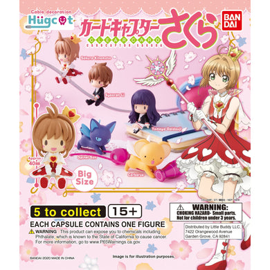 Cardcaptor Sakura Clear Card Hug-Cot Cable Decoration Figure Gashapon (Bag of 50 Capsules)