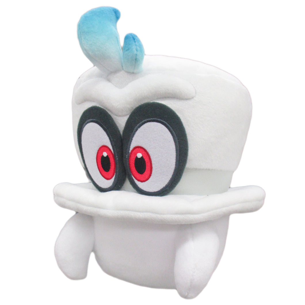 Little Buddy Super Mario Odyssey White Cappy (Normal Form) Plush, 7.5