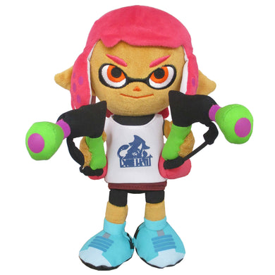 Little Buddy Splatoon 2 Series Inkling Female Girl Neon Pink Plush, 9.5