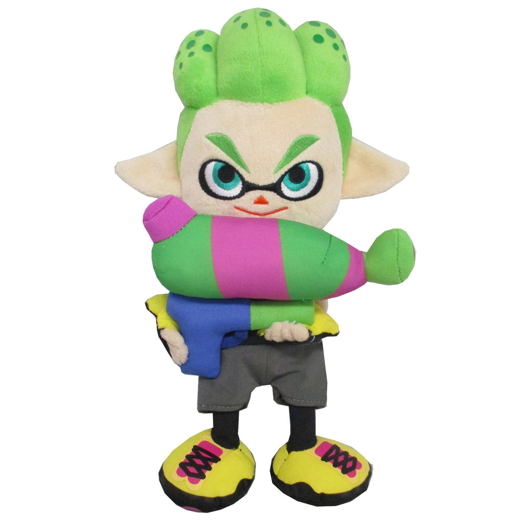 Little Buddy Splatoon 2 Series Inkling Boy Neon Green Plush, 10
