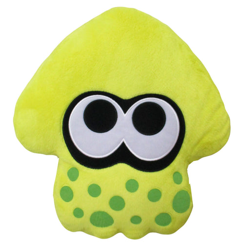 Little Buddy Splatoon 2 Series Neon Yellow Squid Cushion Plush, 14