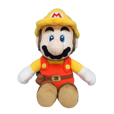 Little Buddy Super Mario Maker 2 Builder Mario Plush, 9.5