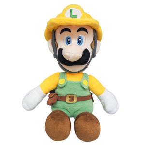 Little Buddy Super Mario Maker 2 Builder Luigi Plush, 10""