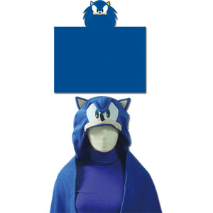 "Great Eastern GE-34020 Sonic the Hedgehog: Sonic Head Hoodie Blanket, 57"" x 41"""