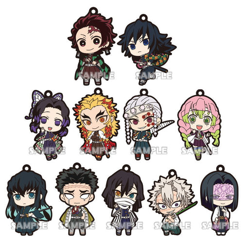Bushiroad Creative Demon Slayer (Kimetsu No Yaiba) Pillar Version Rubber Mascot Collection Gashapon (Bag of 40 Capsules)