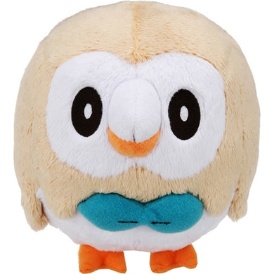 Takaratomy Pokemon Sun & Moon Series Rowlet Plush, 6