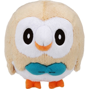 Takaratomy Pokemon Sun & Moon Series Rowlet Plush, 6""