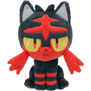 Takaratomy Pokemon Sun & Moon Series Litten Plush, 8""