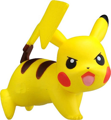 Takaratomy Pokemon EX EMC-08 Pikachu Battle Pose Figure, 1.25