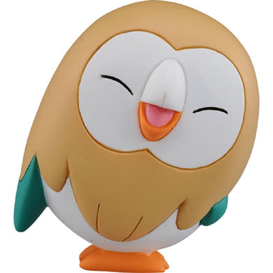 Takaratomy Pokemon EX EMC-28 Smiling Rowlet Figure, 1.5