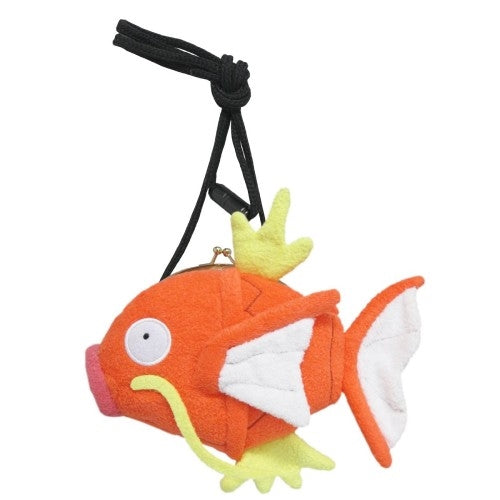 Sanei Pokemon All Star Collection PZ09 Magikarp Coin Pouch Plush w/ Strap, 4.5