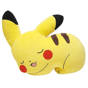 Sanei Pokemon All Star Collection PZ17 Sleeping Pikachu Mochifuwa Cushion Plush, 11""