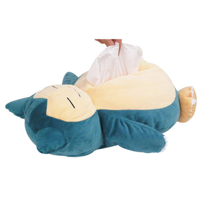 Sanei Pokemon All Star Collection PZ25 Tissue Box Plush Cover - Snorlax, 16""