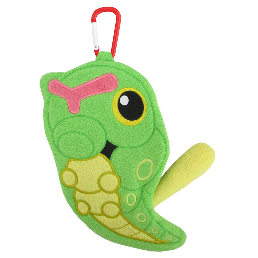Sanei Pokemon All Star Collection Petafuwa PZ26 Caterpie Plush Zipper Pouch, 8