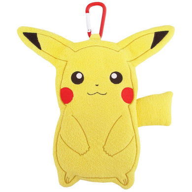 Sanei Pokemon All Star Collection Petafuwa PZ27 Pikachu Plush Zipper Pouch, 8