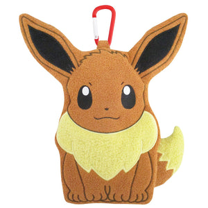 Sanei Pokemon All Star Collection Petafuwa PZ29 Eevee Plush Zipper Pouch, 8""