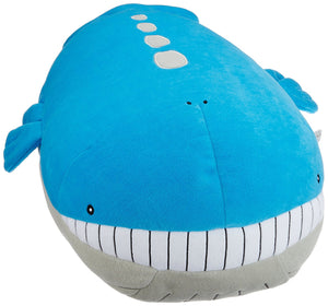 Sanei Pokemon All Star Collection PZ03 Wailord Mochifuwa Cushion Plush, 18""
