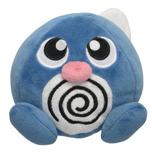 Sanei Pokemon All Star Collection PP05 Poliwag Plush, 4.5""