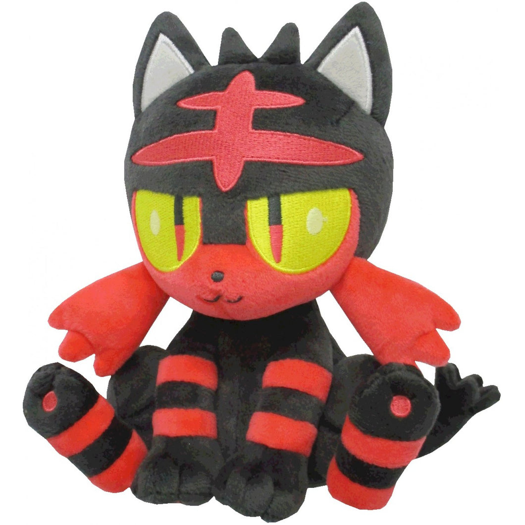 Sanei Pokemon All Star Collection PP55 Litten Plush, 7