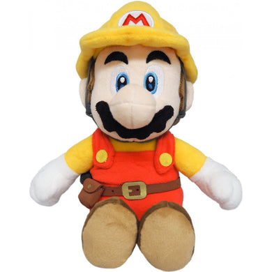 Sanei Super Mario Maker 2 SMM01 Builder Mario Plush, 9.5