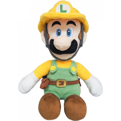 Sanei Super Mario Maker 2 SMM02 Builder Luigi Plush, 10