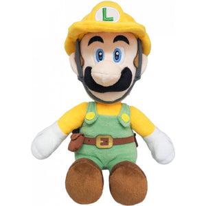 Sanei Super Mario Maker 2 SMM02 Builder Luigi Plush, 10""