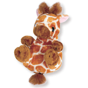 Sanei Squeaky Animal Giraffe Stuffed Plush, 5.5""