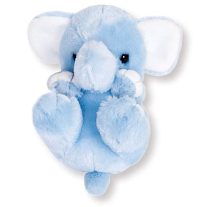 Sanei Squeaky Animal Blue Elephant Stuffed Plush, 5.5""