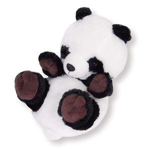 Sanei Squeaky Animal Cute Panda Stuffed Plush, 6""