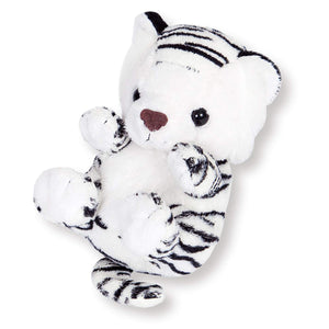 Sanei Squeaky Animal White Tiger Stuffed Plush, 5""