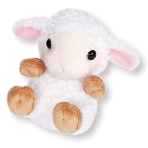 Sanei Squeaky Animal Sheep Stuffed Plush, 5.5""