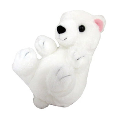 Sanei Squeaky Animal Polar Bear Stuffed Plush, 5.5