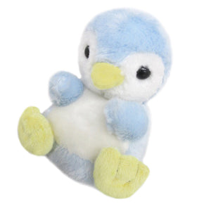 Sanei Squeaky Animal Blue Penguin Stuffed Plush, 5""