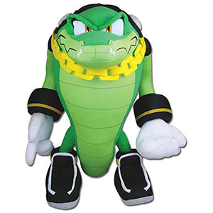 Great Eastern GE-52633 Sonic The Hedgehog: Vector the Crocodile Plush, 14""