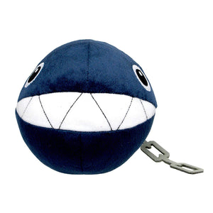 Sanei Super Mario All Star Collection AC24 Chain Chomp Plush, 5""