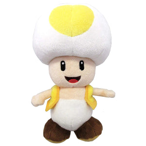 Sanei Super Mario All Star Collection AC32 Yellow Toad Plush, 8""