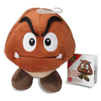Sanei Super Mario All Star Collection AC12 Goomba Plush, 5