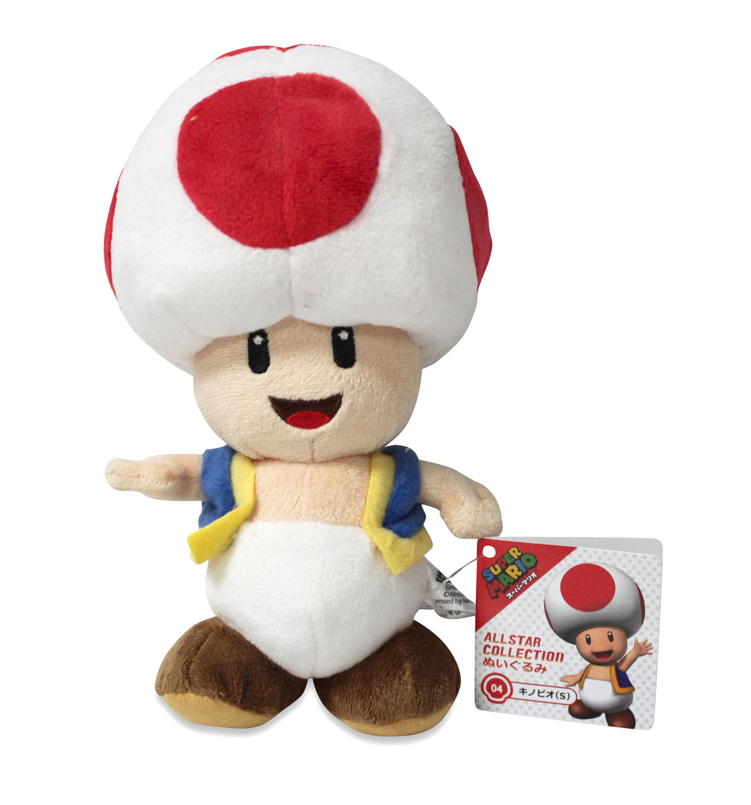 Sanei Super Mario All Star Collection AC04 Toad Plush, 7.5