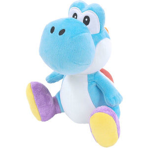 Little Buddy Super Mario All Star Collection Light Blue Yoshi Plush, 7""