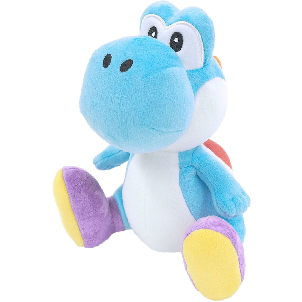 Little Buddy Super Mario All Star Collection Light Blue Yoshi Plush, 7