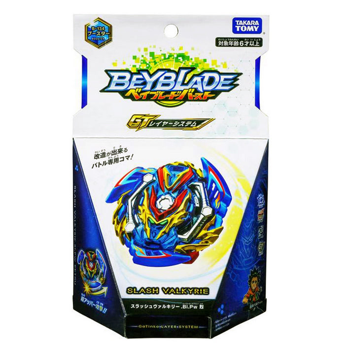 Takaratomy B-134 Beyblade Burst Slash Valkyrie Blitz Power Retsu Booster Top