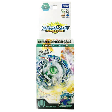 Takaratomy B-56 Beyblade Burst Unlock Unicorn.D.N Defense Booster