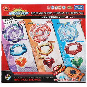 Takaratomy B-64 Beyblade Burst Super Custom Set Heavy Ver. Attack & Balance Starter w/ Launcher